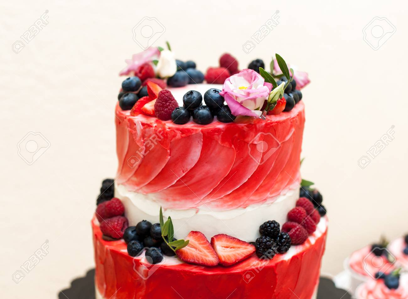 Large Strawberry Cake Stock Photo Picture And Royalty Free Image Image 82990271