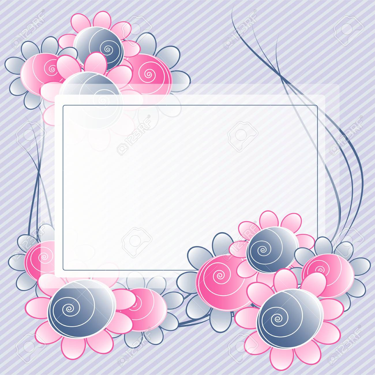 Flowers bright a background are more transparent Stock Vector - 11016253