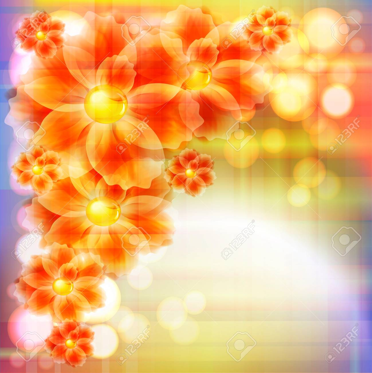 Flowers bright a background are more transparent Stock Vector - 12868627