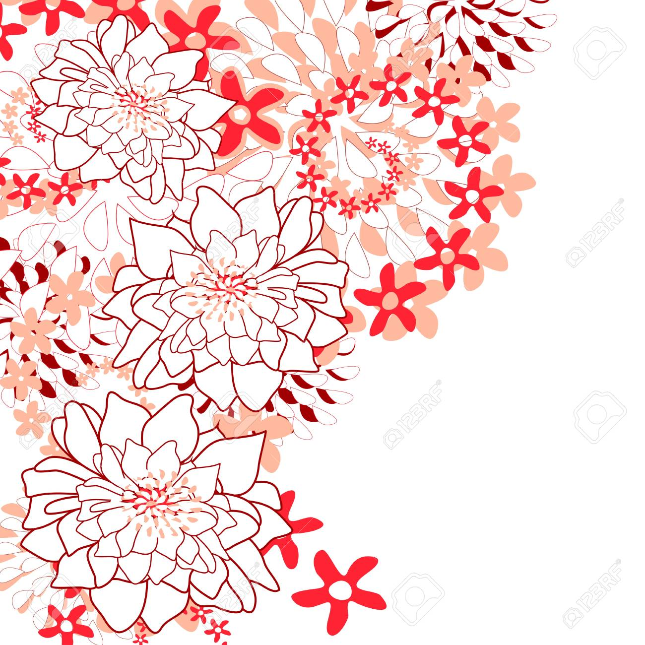 Flowers bright a background are more transparent Stock Vector - 13447077