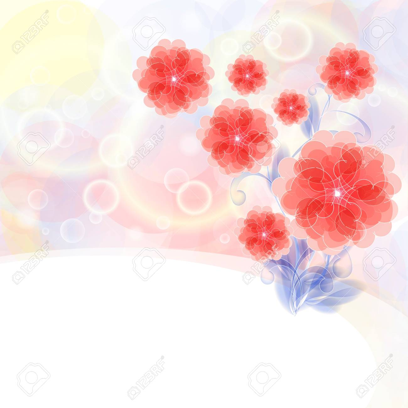 Flowers bright a background are more transparent Stock Vector - 15544249