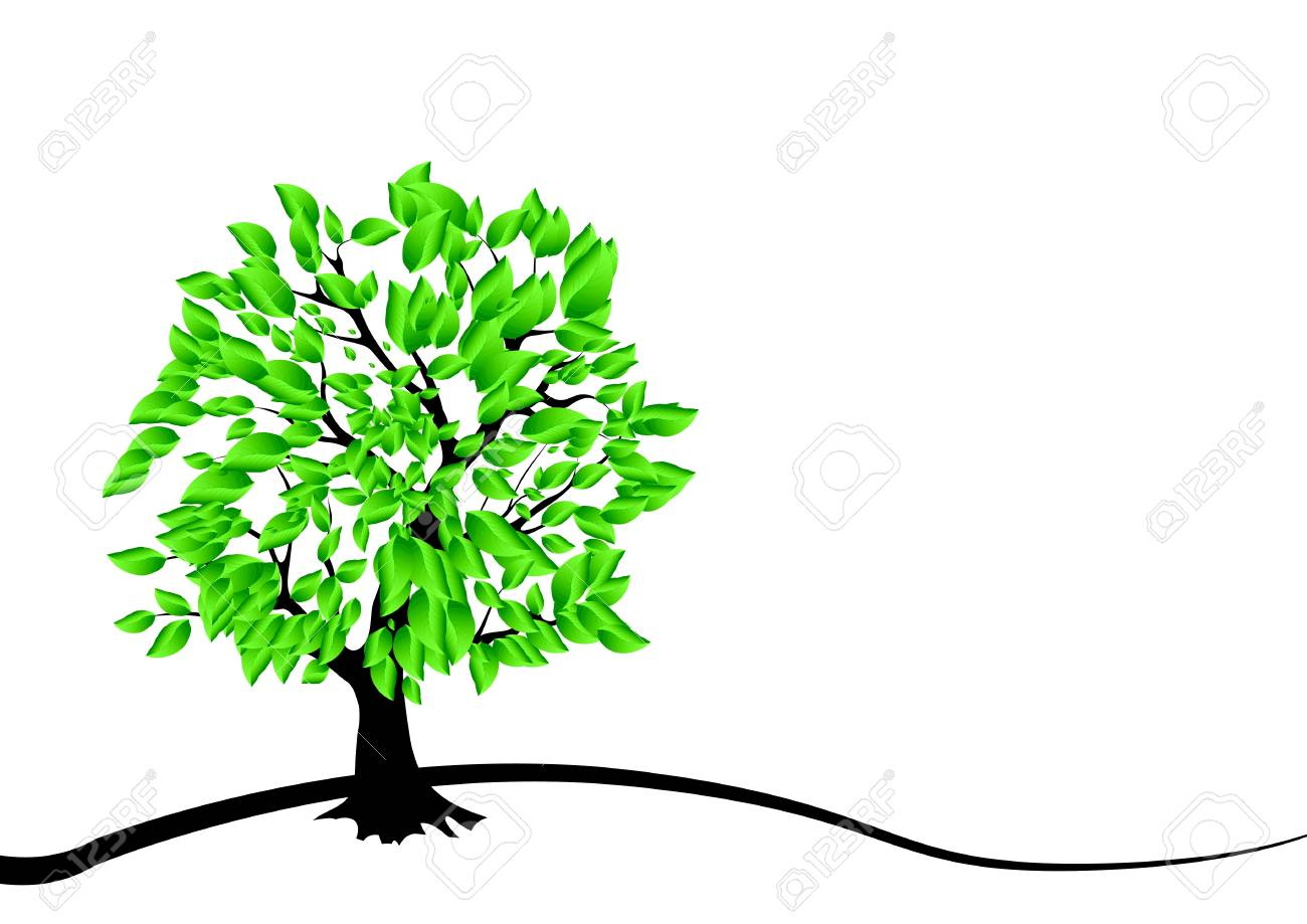 card design with stylized trees Stock Vector - 15756314