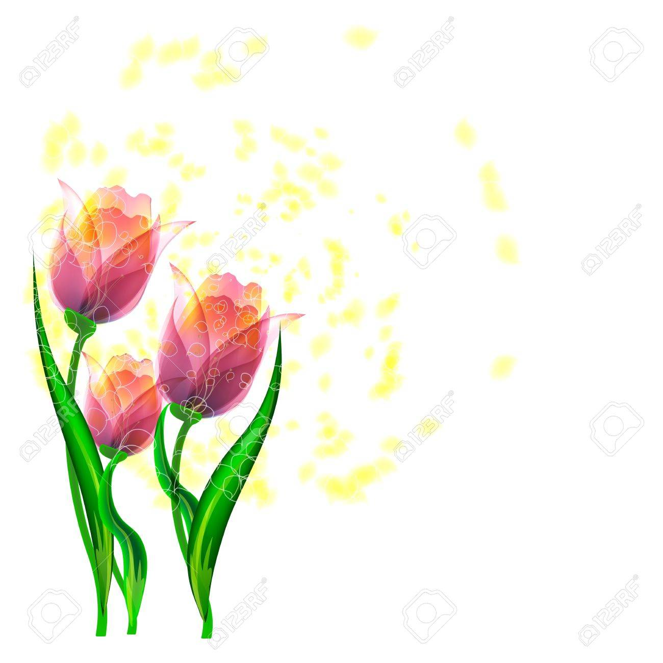 Flowers bright a background are more transparent Stock Vector - 15756292