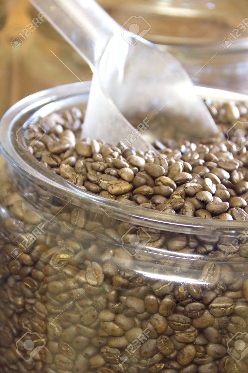 Coffee beans in a glass jar Stock Photo - 14926173