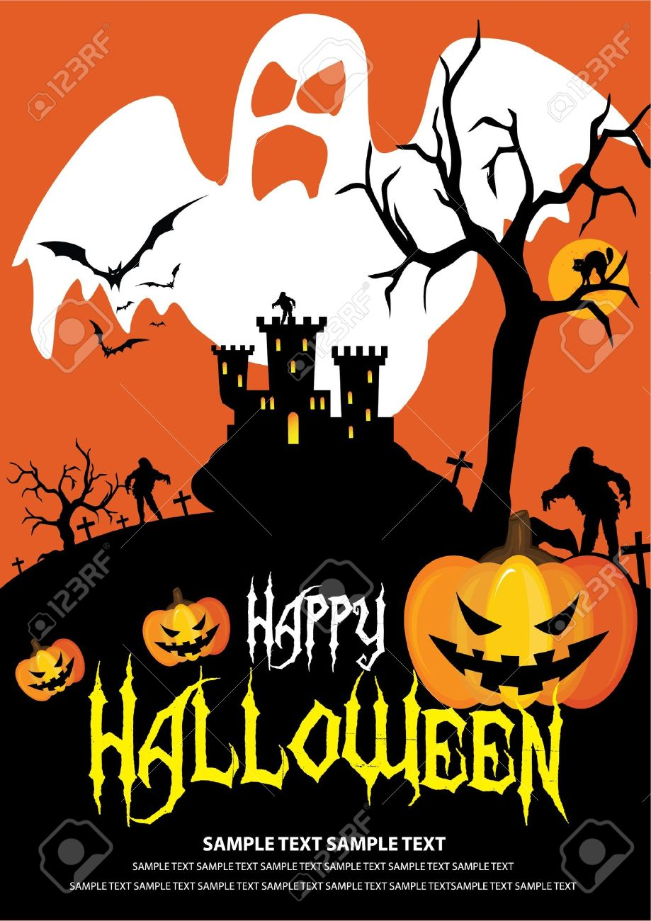 Font in artwork is free font. Halloween on October 31 Stock Vector - 10845667