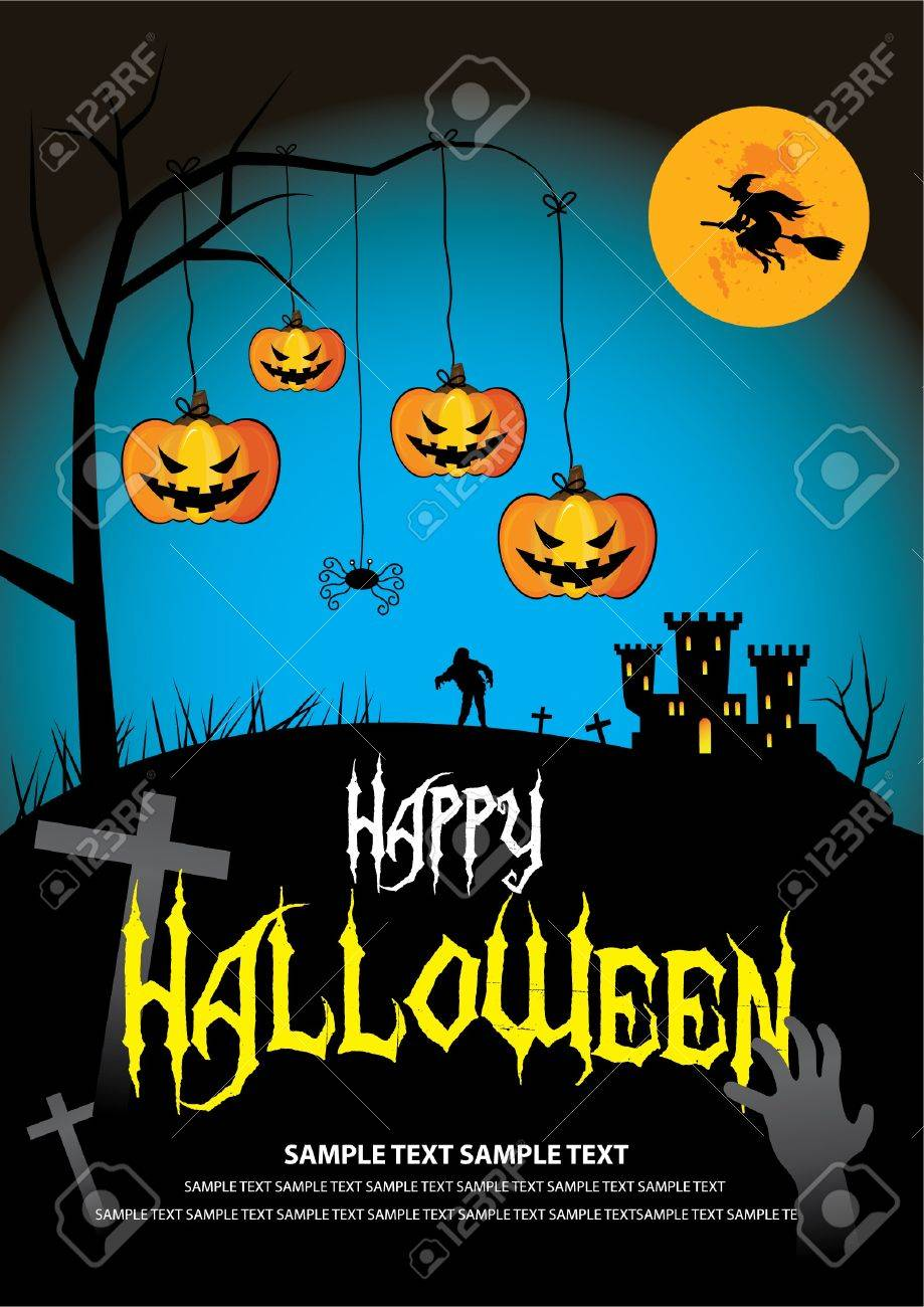 Font in artwork is free font. Halloween on October 31 Stock Vector - 10845668