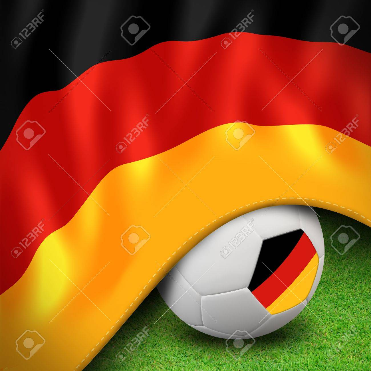 Soccer ball and flag euro germany Stock Photo - 12842367