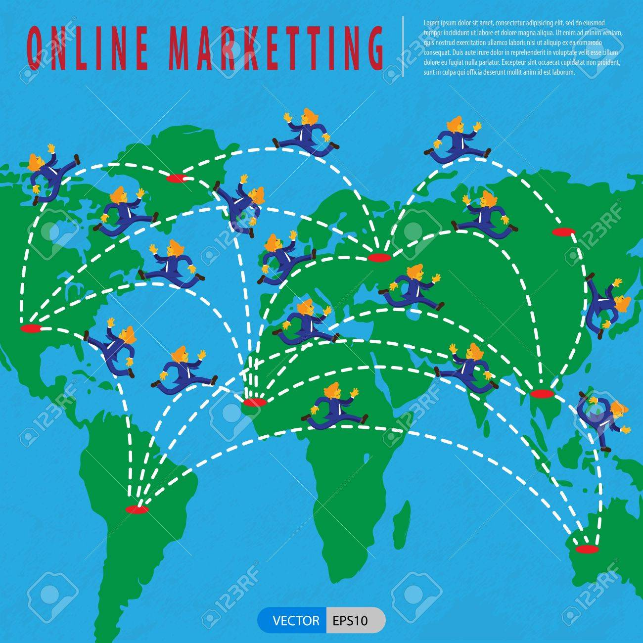 Online marketing platform is an integrated web-based platform that combines a business directory,search engine optimization tool,customer relationship management package and content management system Stock Vector - 18241004