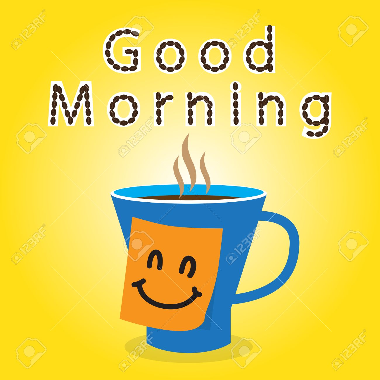 Coffee gift to friend in the morning for working day Stock Vector - 24084609
