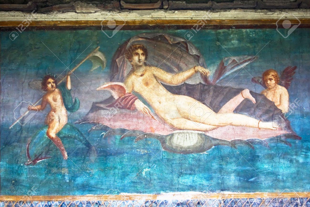 Venus Peinture Murale Romaine De Pompéi En Italie