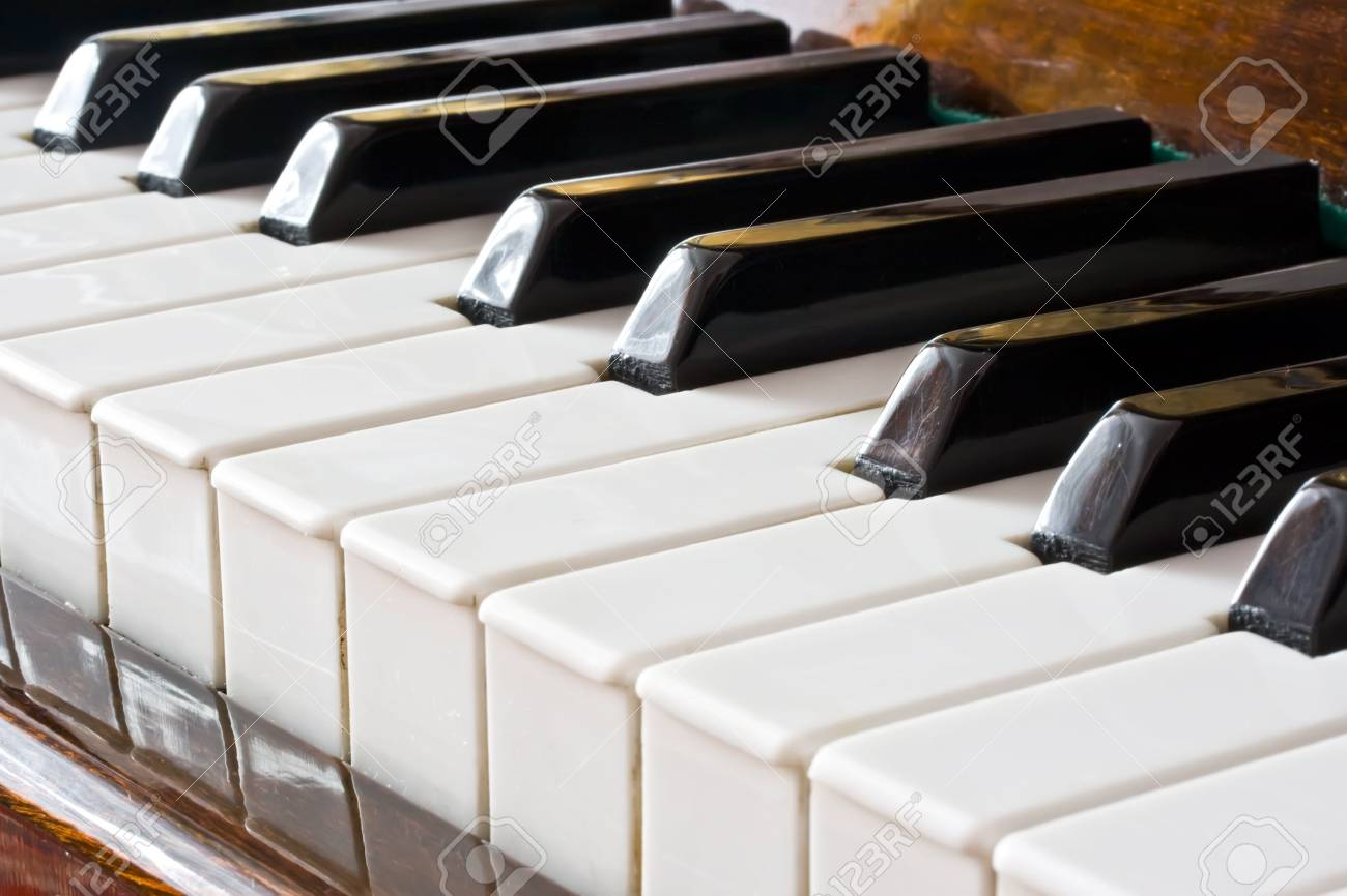 Closeup view of a piano keyboard Stock Photo - 5707826