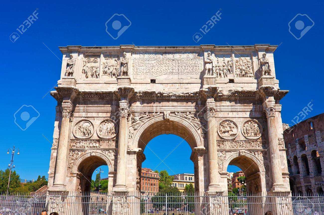 Arch Of Septimius Severus In Famous Ancient Roman Forum In Rome