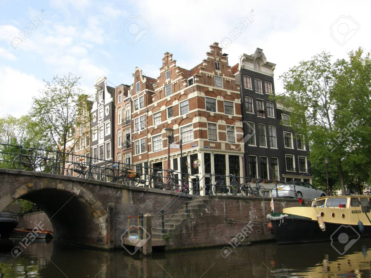 Amsterdam Canals & Houses Stock Photo - 3551470