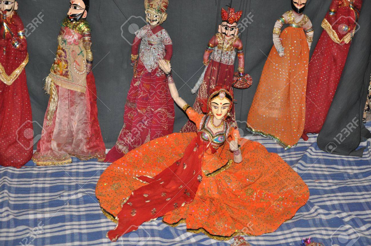 Indian Puppet Dance Stock Photo - 12965209