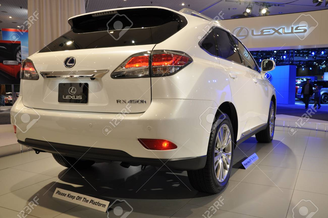 New York April 11 Lexus Rx Hybrid Suv At The 2012 New York Stock Photo Picture And Royalty Free Image Image 13226495