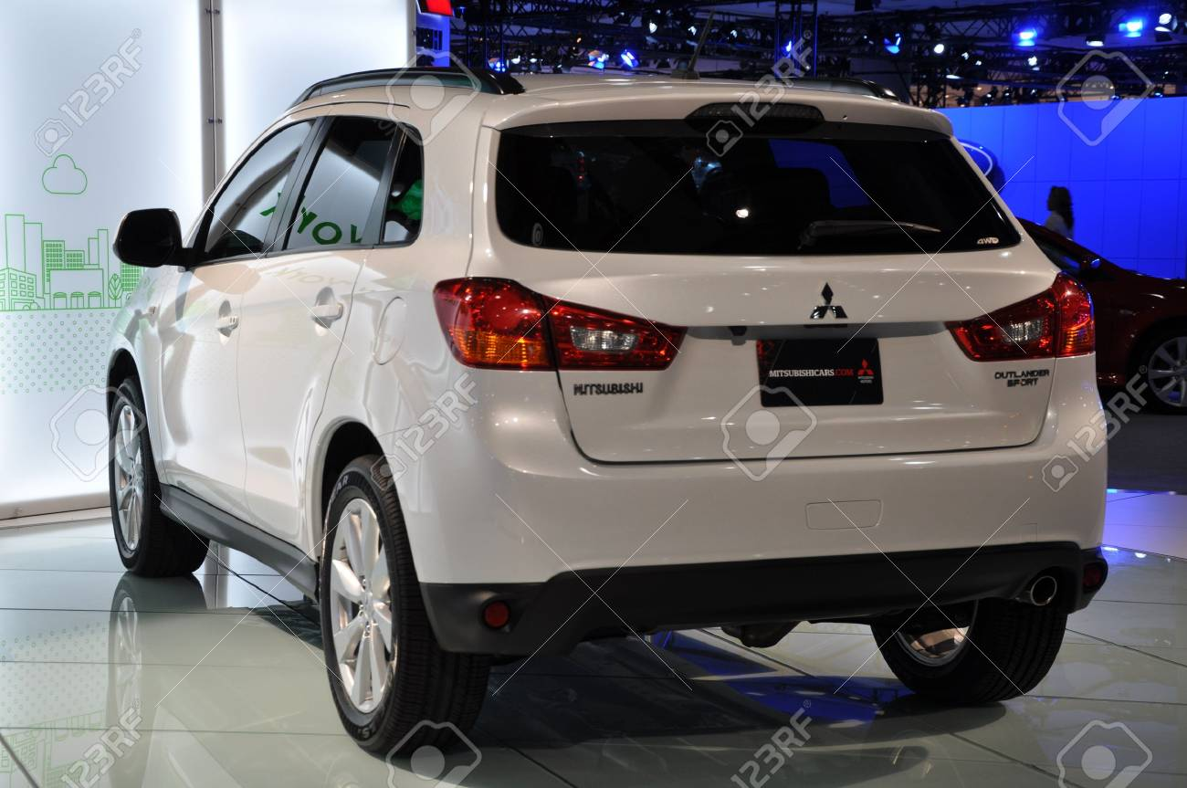 NEW YORK - APRIL 11: Mitsubishi Outlander at the 2012 New York International Auto Show running from April 6-15, 2012 in New York, NY. Stock Photo - 13226479
