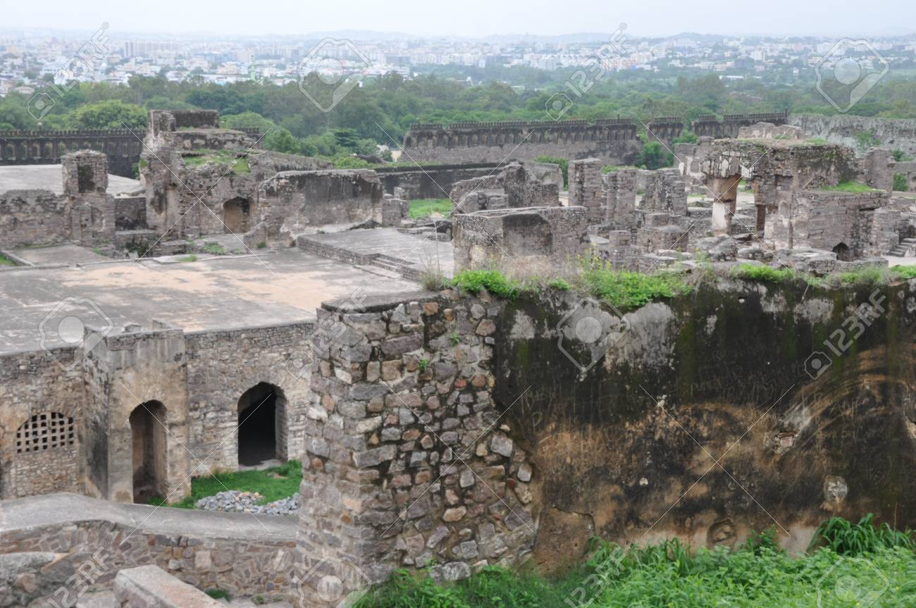 Golconda Fort in Hyderabad, India Stock Photo - 15157213
