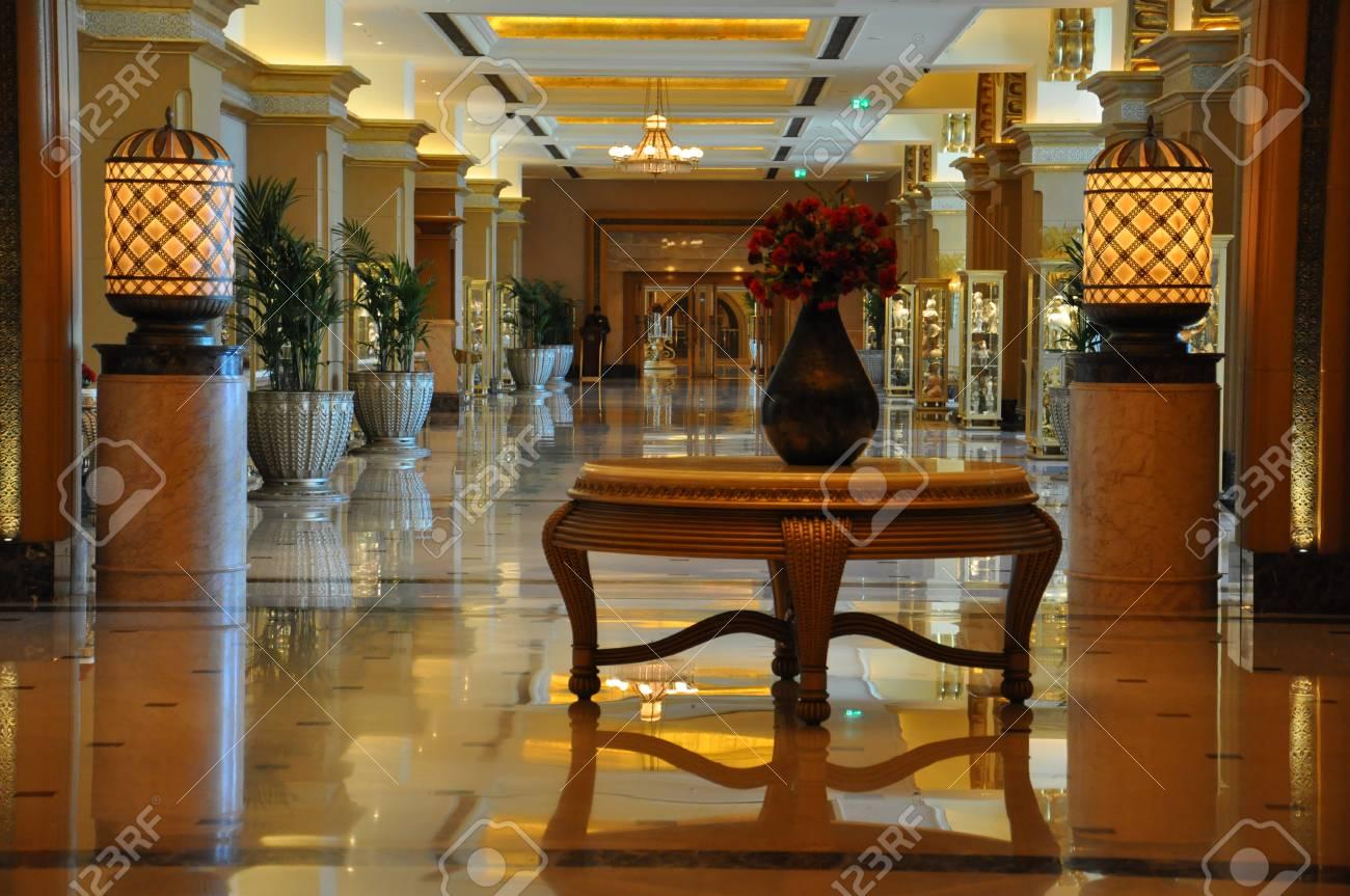 Interior Of The 7 Star Emirates Palace Hotel In Abu Dhabi Uae Stock
