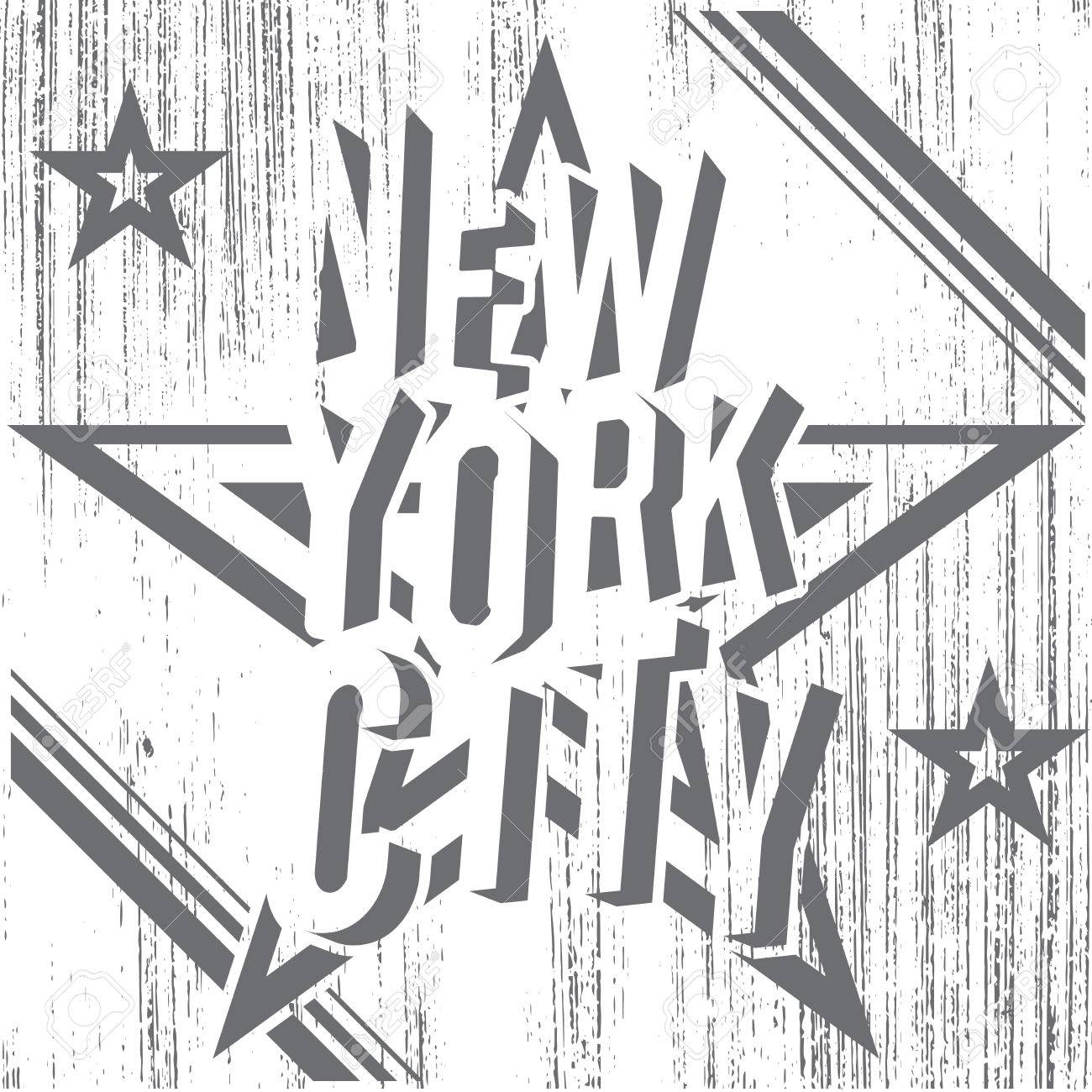 Design a t shirt nyc - New York City Grunge Typography Poster T Shirt Printing Design Vector Badge Applique