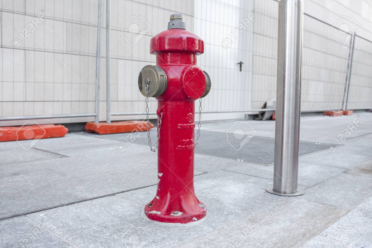 MILAN, ITALY OCTOBRE 20, 2015: New red water pump for fire fighting,