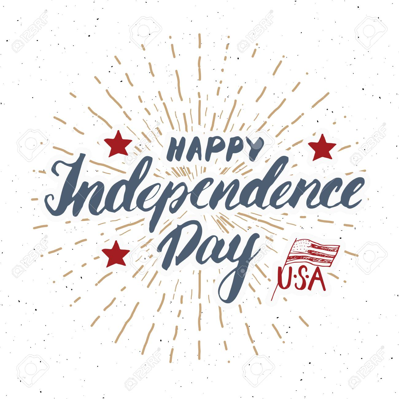 Happy independence day vintage usa greeting card united states happy independence day vintage usa greeting card united states of america celebration hand lettering m4hsunfo