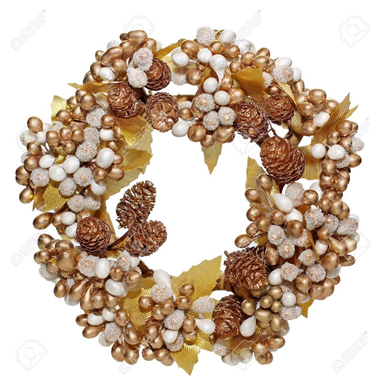 Christmas wreath isolated on white background Stock Photo - 8352565