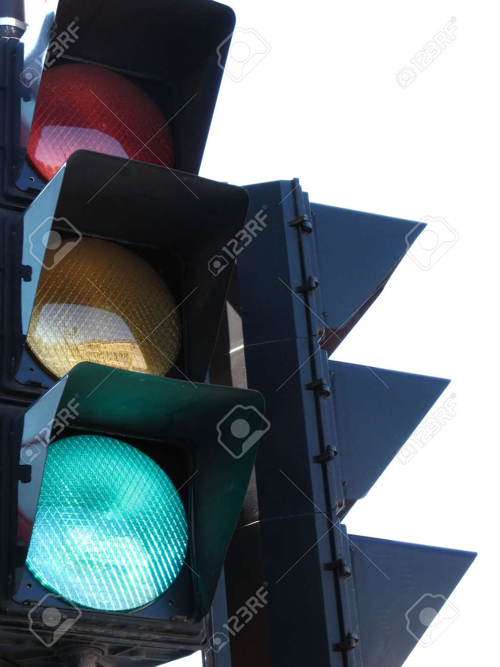 Traffic light in work. Stock Photo - 489043