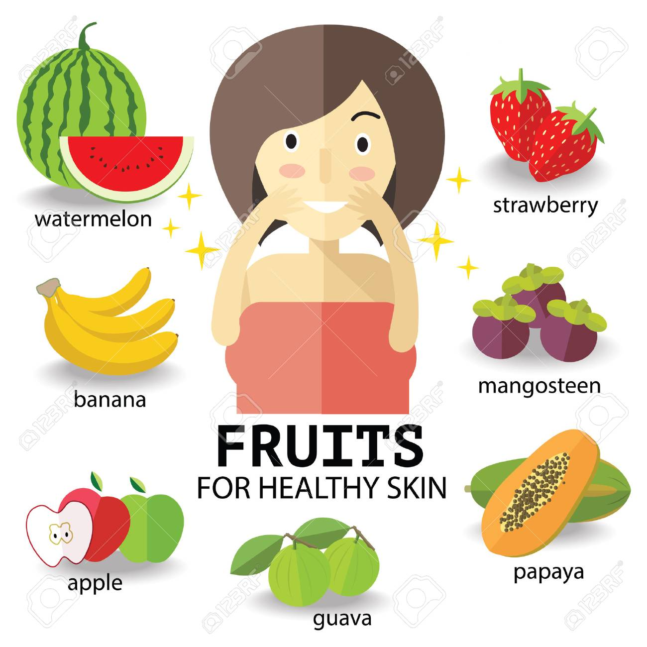 fruits for heathy skin royalty free cliparts vectors and stock