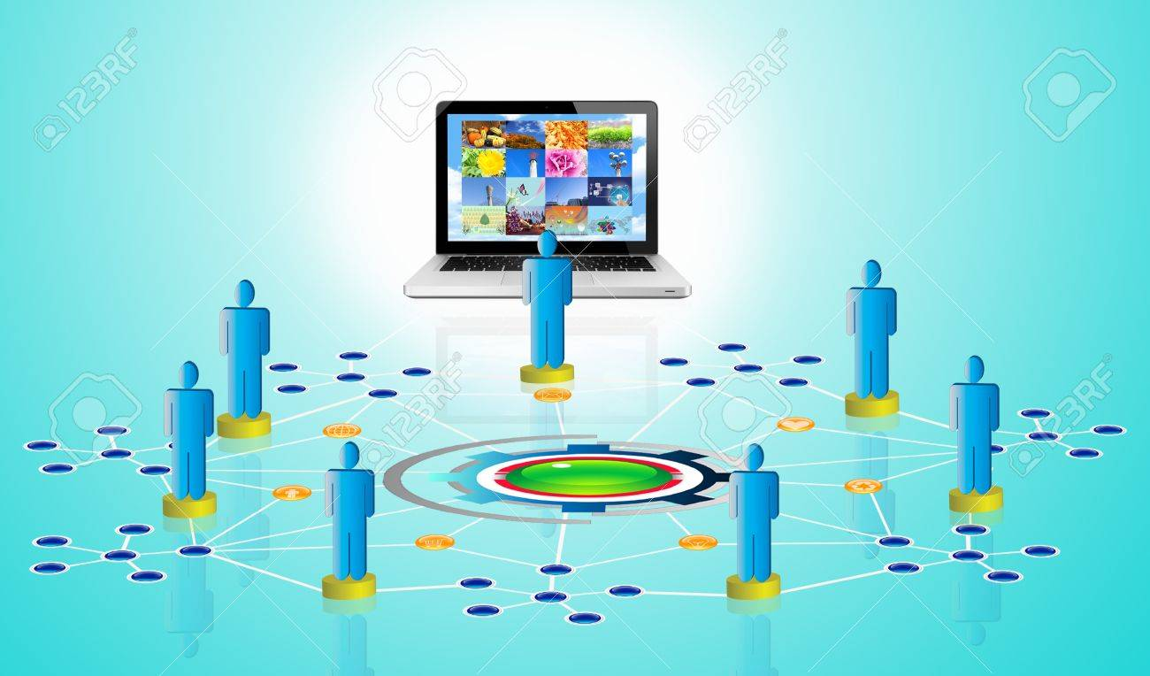 Objects Arrow Computers Arrow Network/Connection Stock Photo - 17866708
