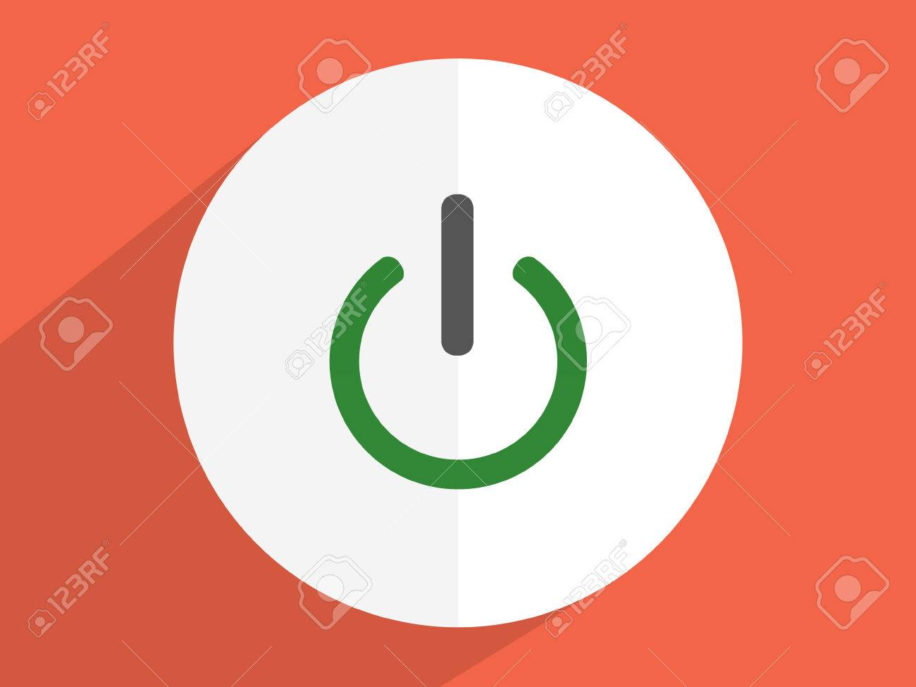 On ,Off, Switch Power Symbol ,Flat Design Style Stock Photo, Picture ...