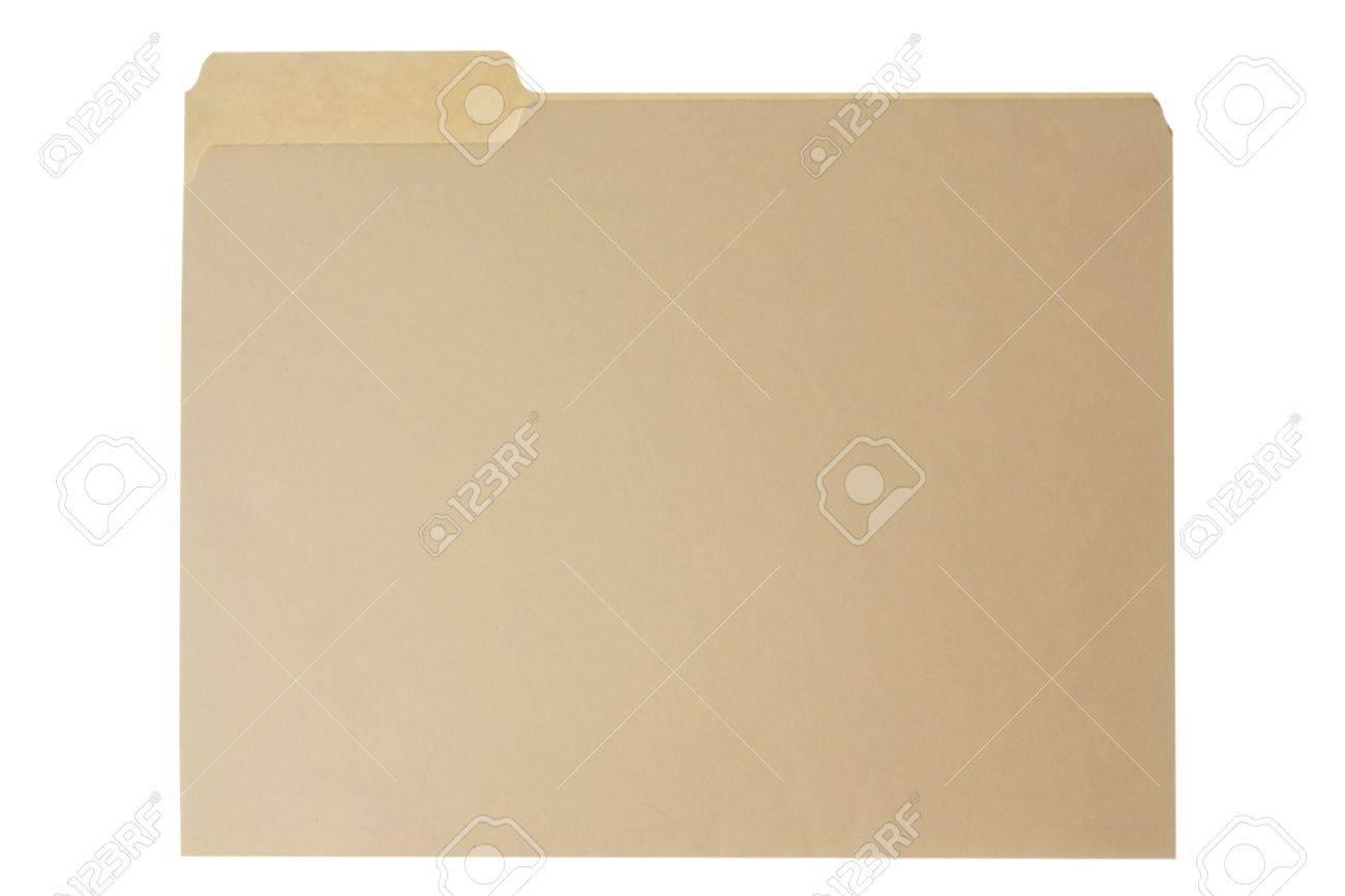 Manilla file folder. Isolated on white. - 6767092