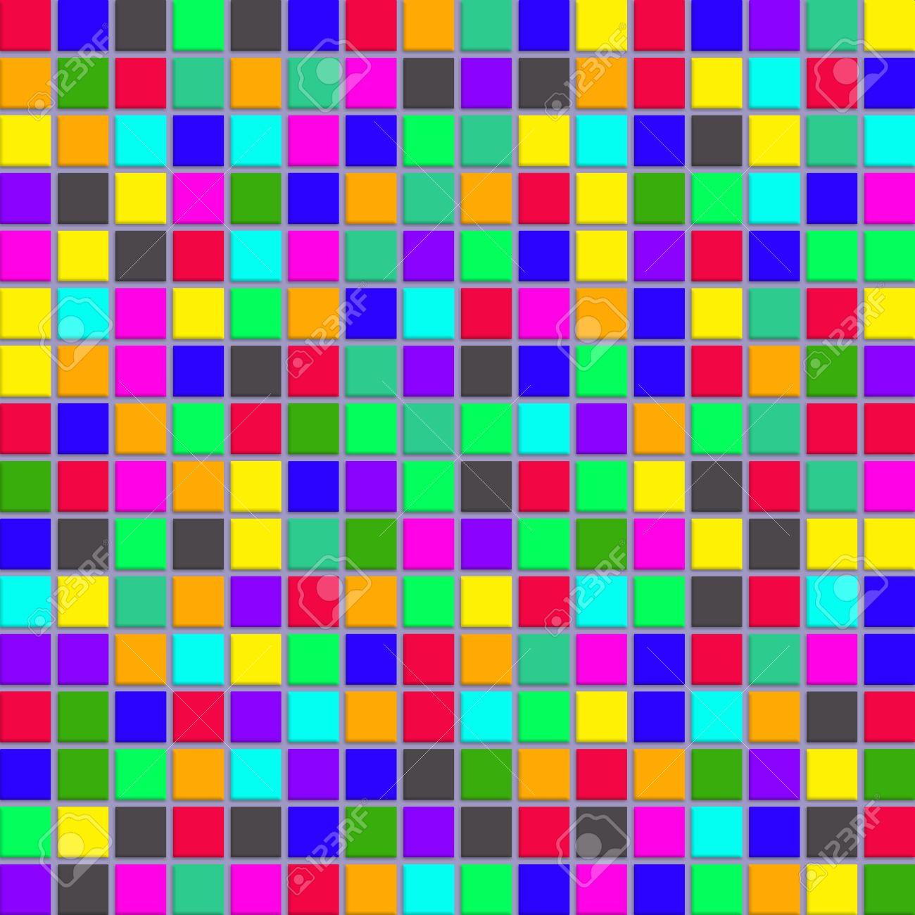 azulejos de mosaico granular con diferentes colores foto de archivo