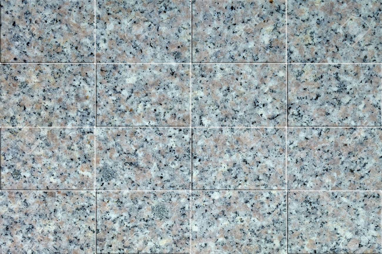 Granite Floor Tile Texture Stock Photo
