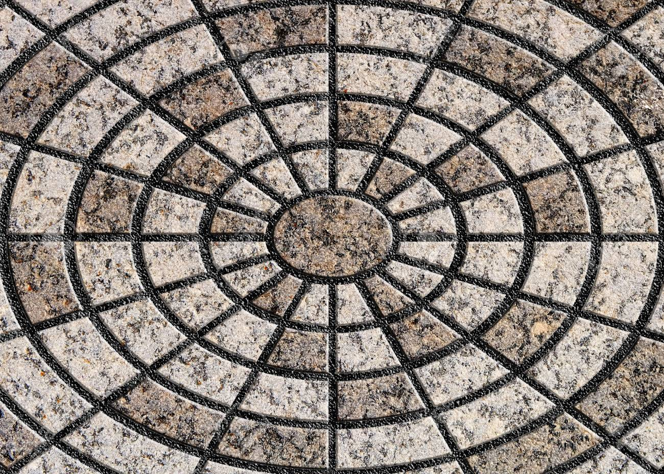 Circle Tiles Circle Design Stone Floor Tiles Stock Photo Picture And Royalty