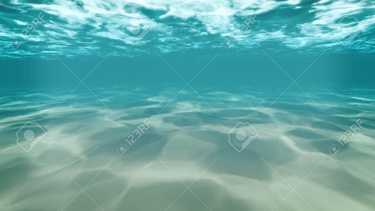 Ocean Water Background under ,water , background,sea,ocean,deep,blue,light,sand stock