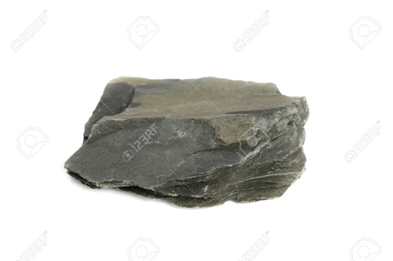 Slate Rock isolate on white background - 111868347