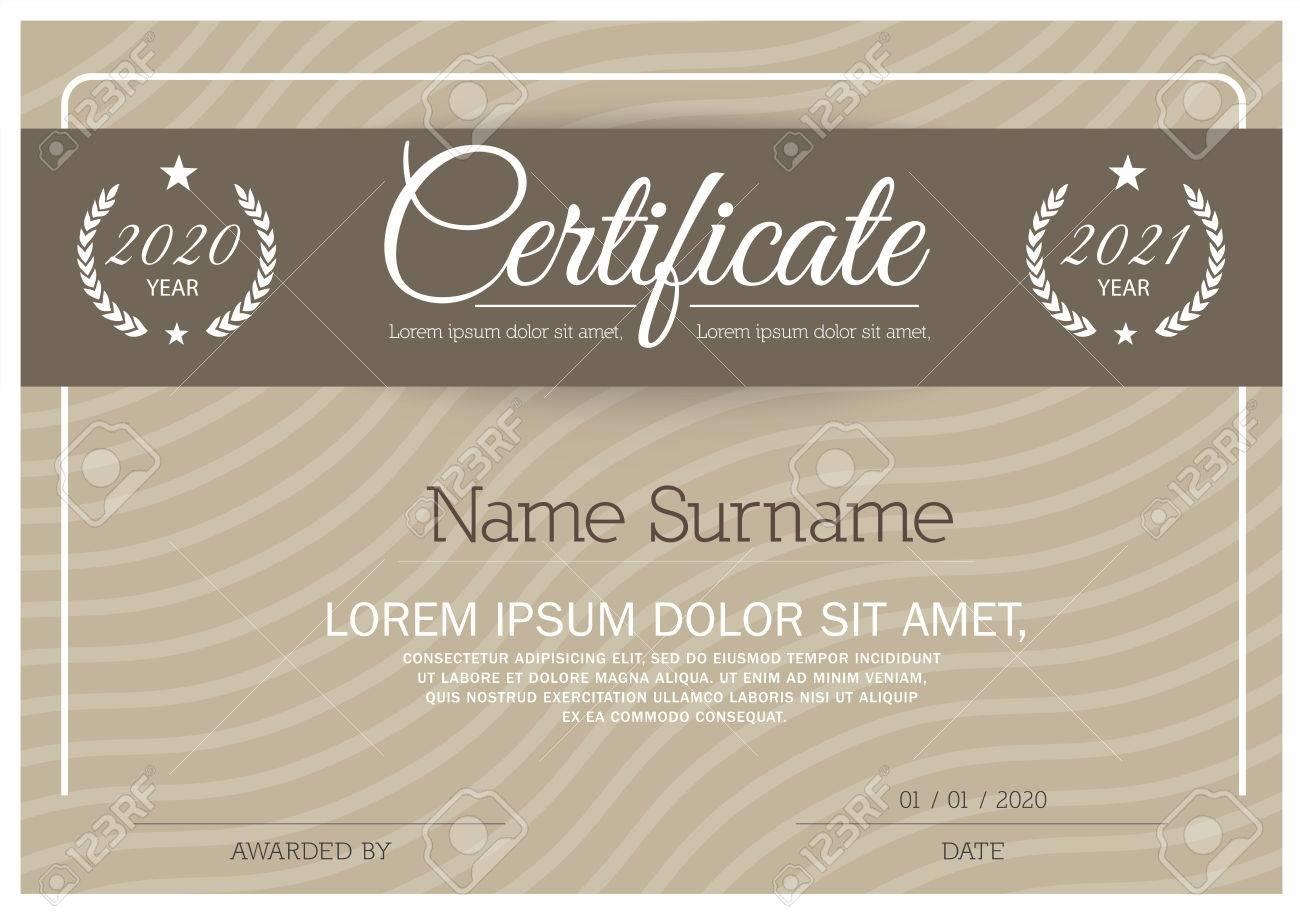 Zertifikat, Diplom-Abschluss (Design-Vorlage, Hintergrund) Mit ...