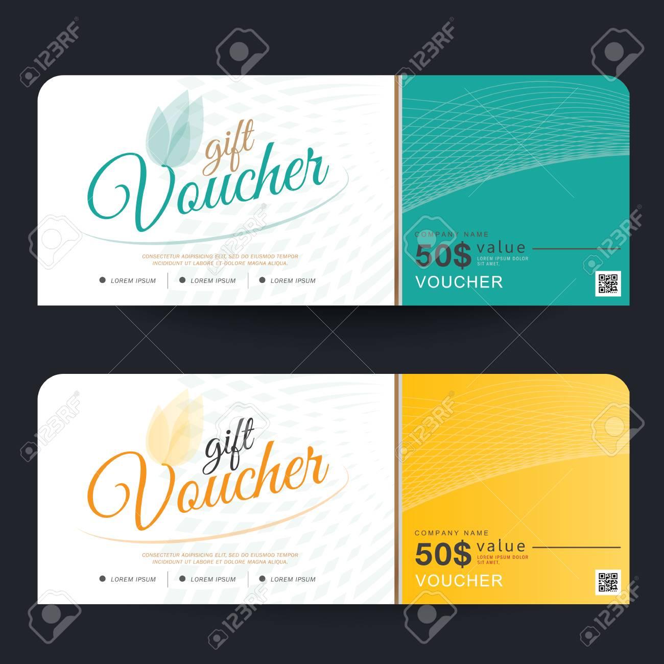 Gutschein Template Design-Konzept Für Geschenkgutschein Lizenzfrei ...