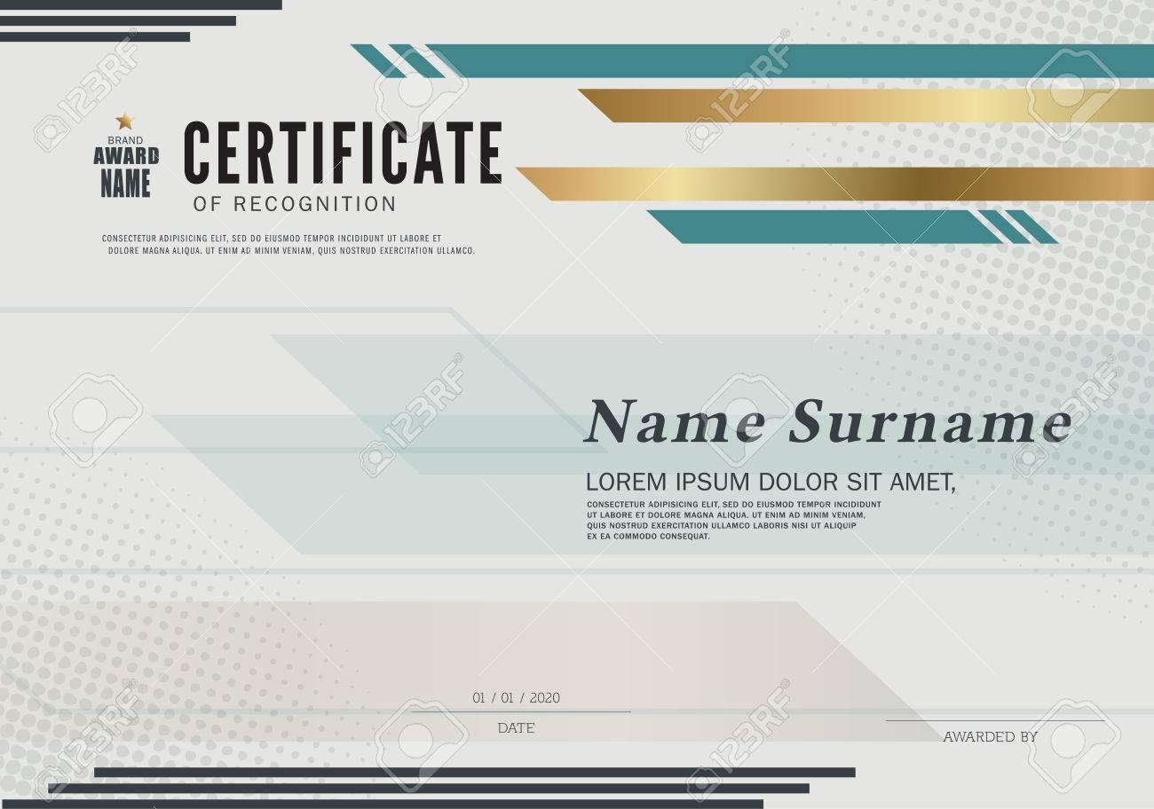 Certificate Of Recognition-Rahmen-Design-Vorlage Layout-Vorlage Im ...