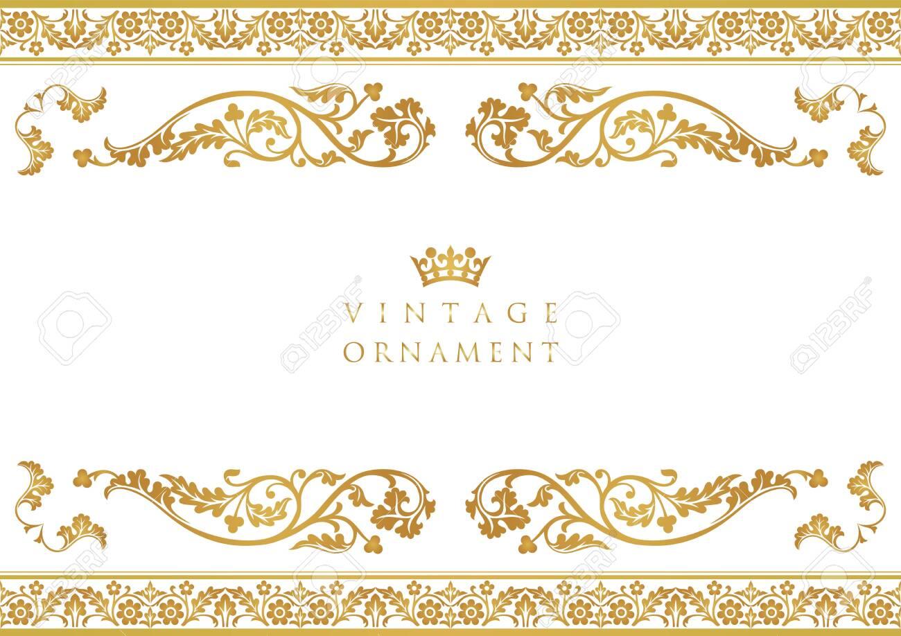 vintage ornament set. borders and frames. - 153986877
