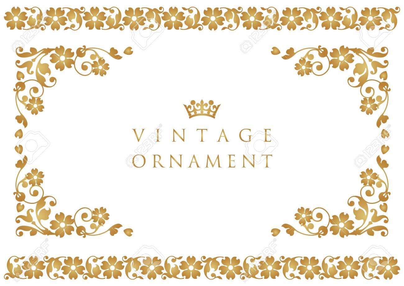 vintage ornament set. borders and frames. - 153986924