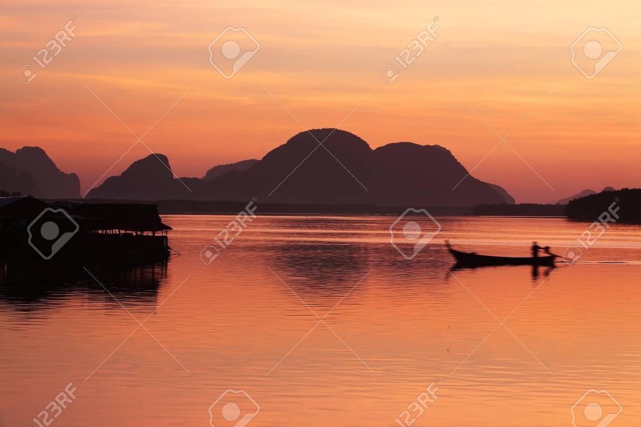 morning at samchong bay,phangnga province,THAILAND. Stock Photo - 21247277