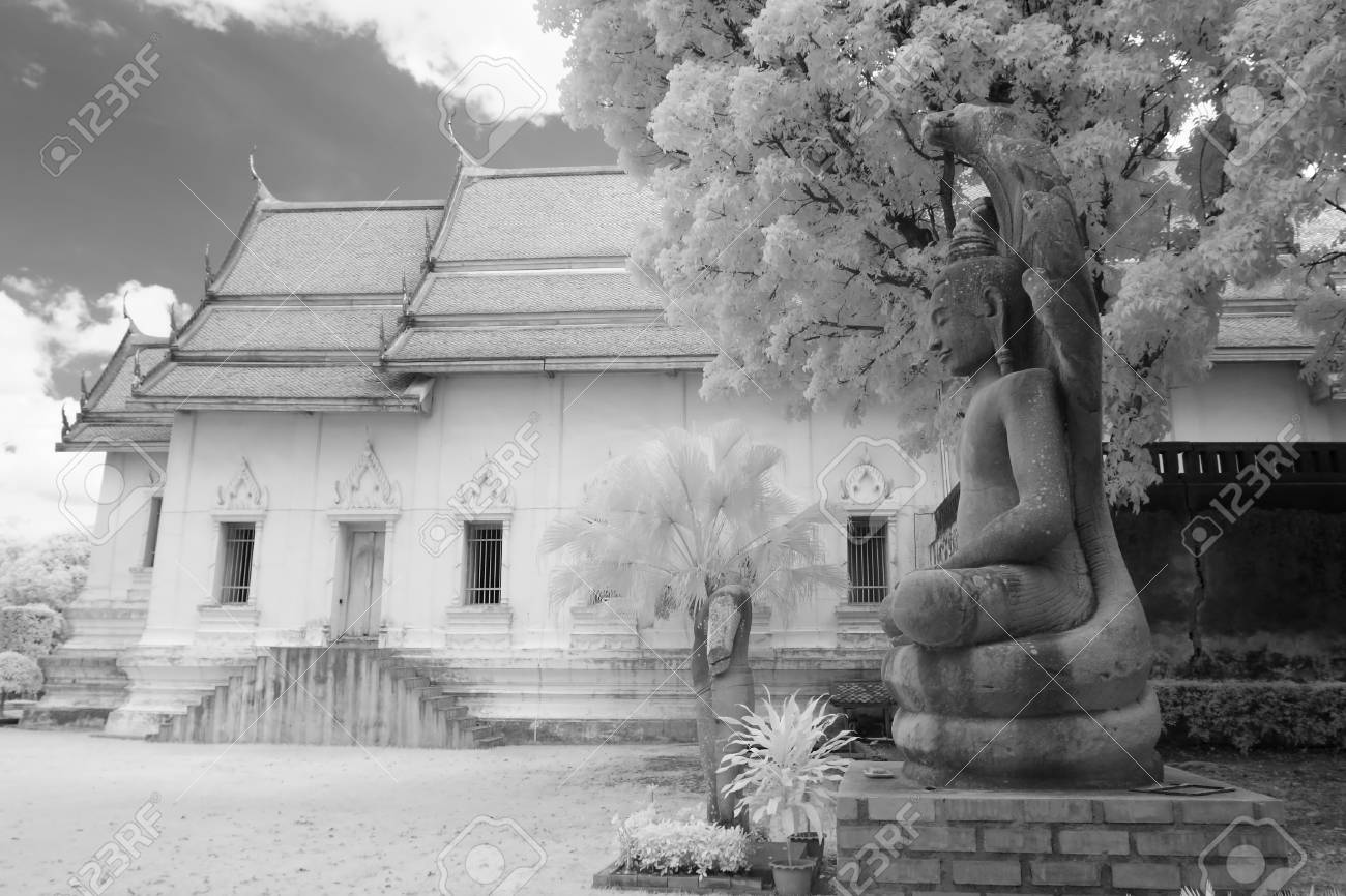 thai temple in infrared Stock Photo - 21473491