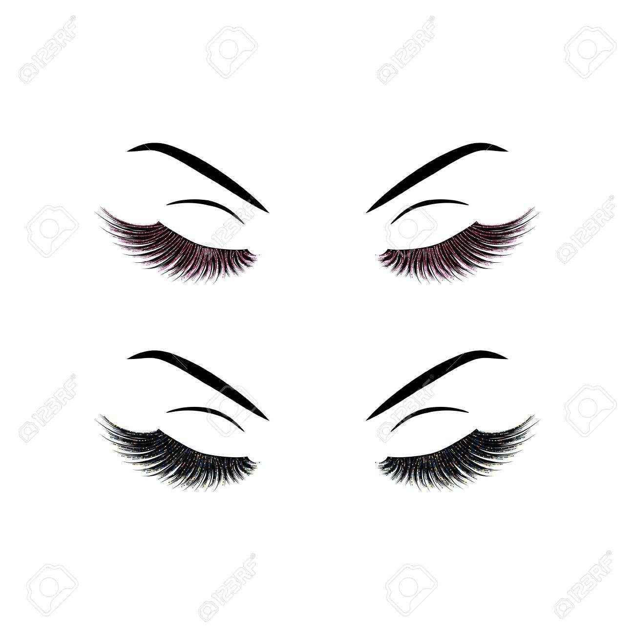 lashes vector illustration royalty free cliparts vectors and stock