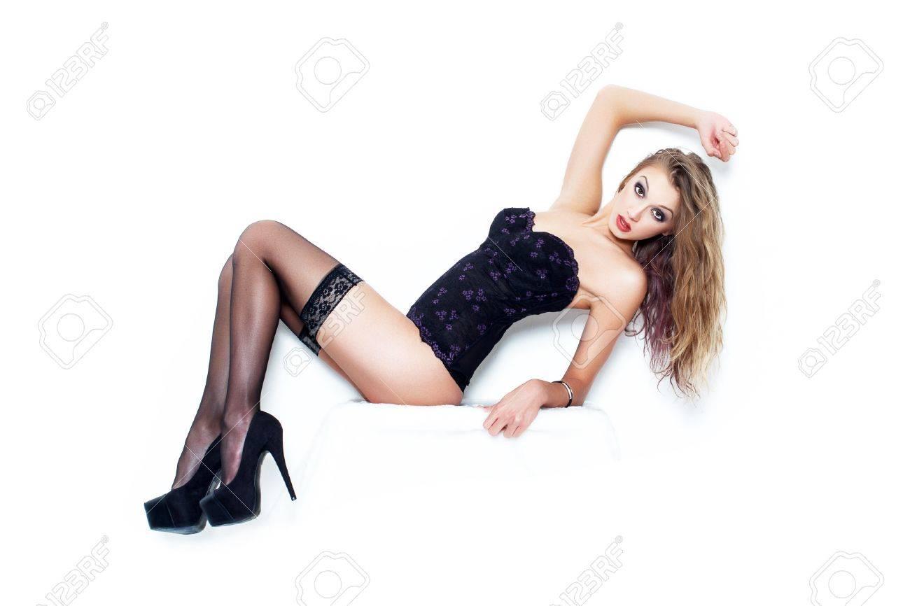 hot sexy frauen in weißen strümpfen