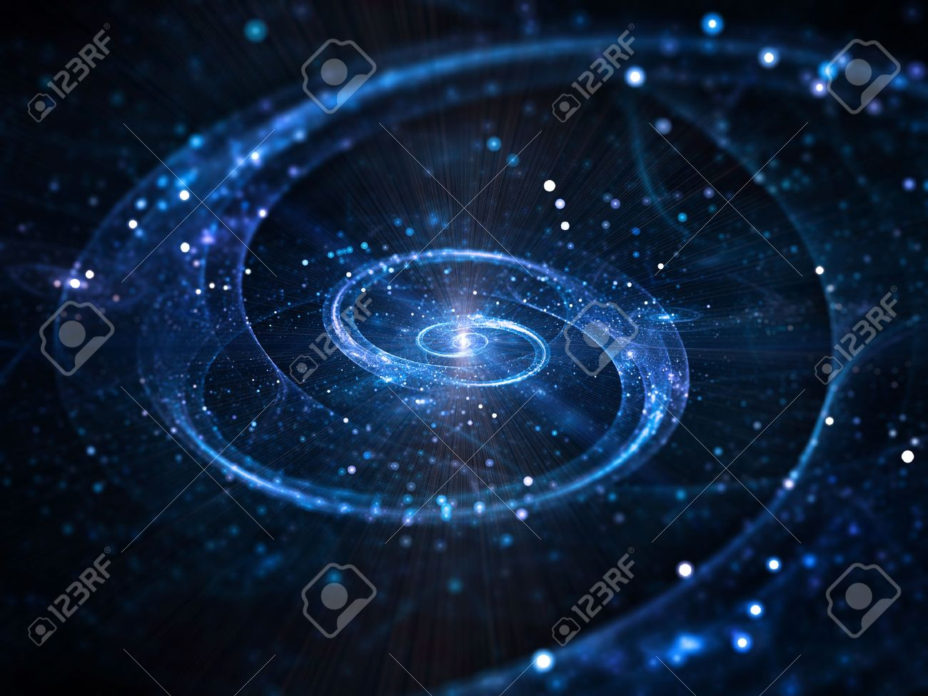 深宇宙、抽象的な渦巻銀河 ロイ...