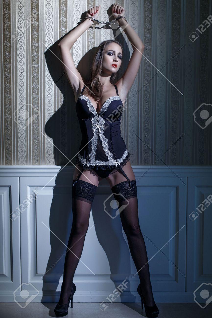 Lace Panties Cuffed Mistress Photos