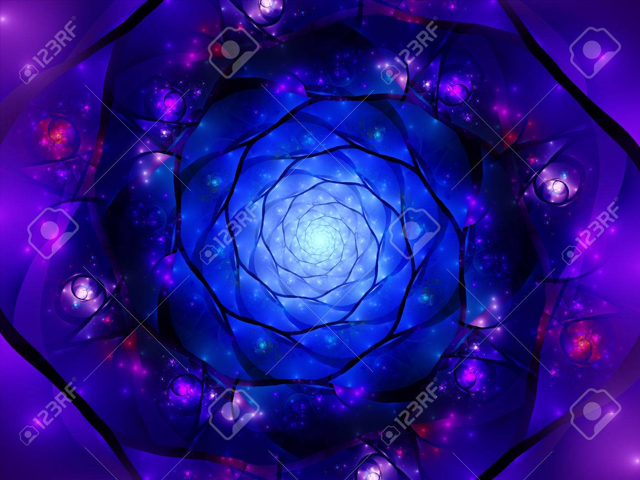 magical zoomed mandala in space fractal computer generated abstract
