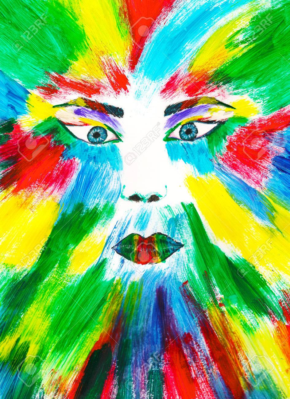 Colorful Face Painting Art