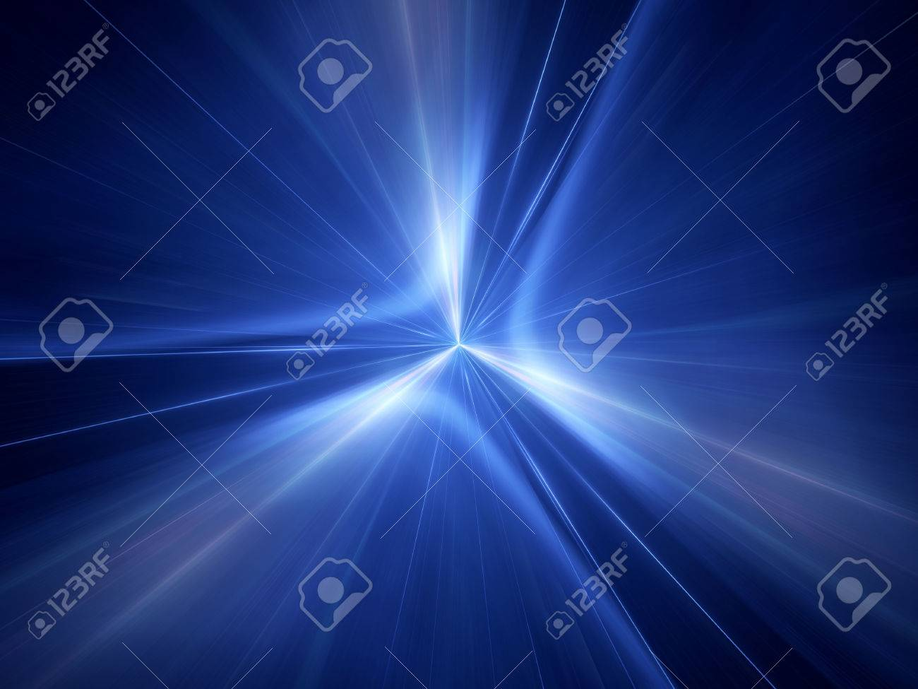 Blue glowing interstellar jump in space, computer generated abstract background - 60572678